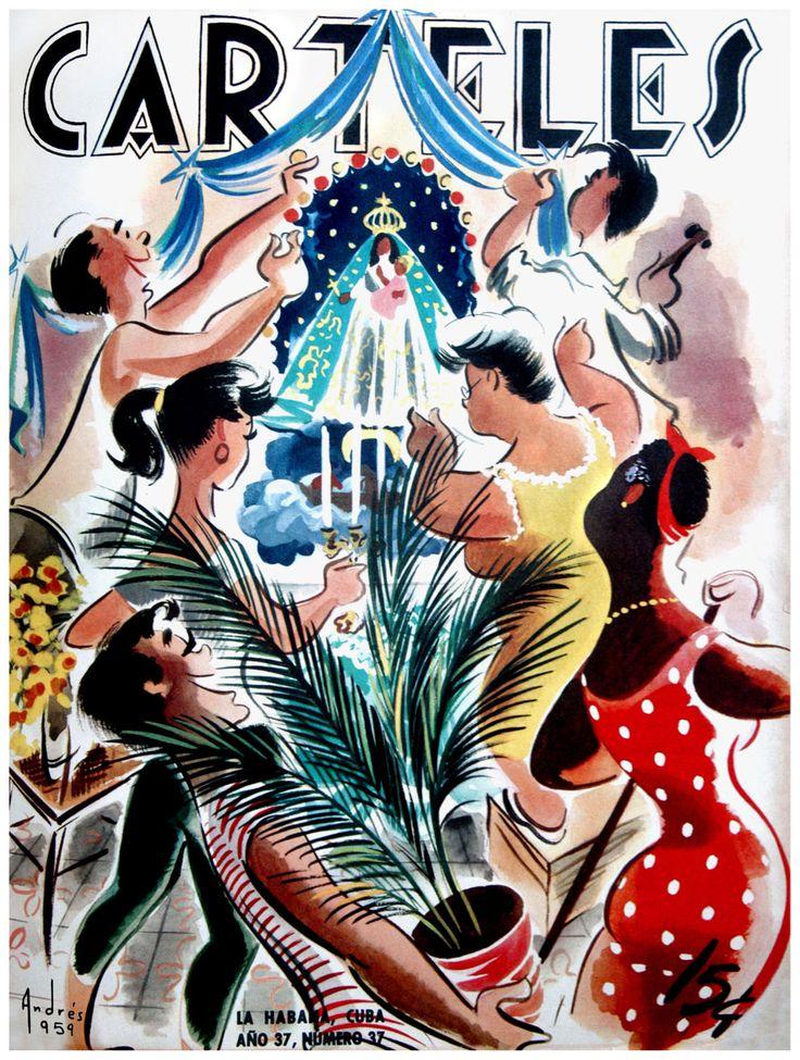 Virgen del Cobre, Cuban, Carteles Magazine Cover