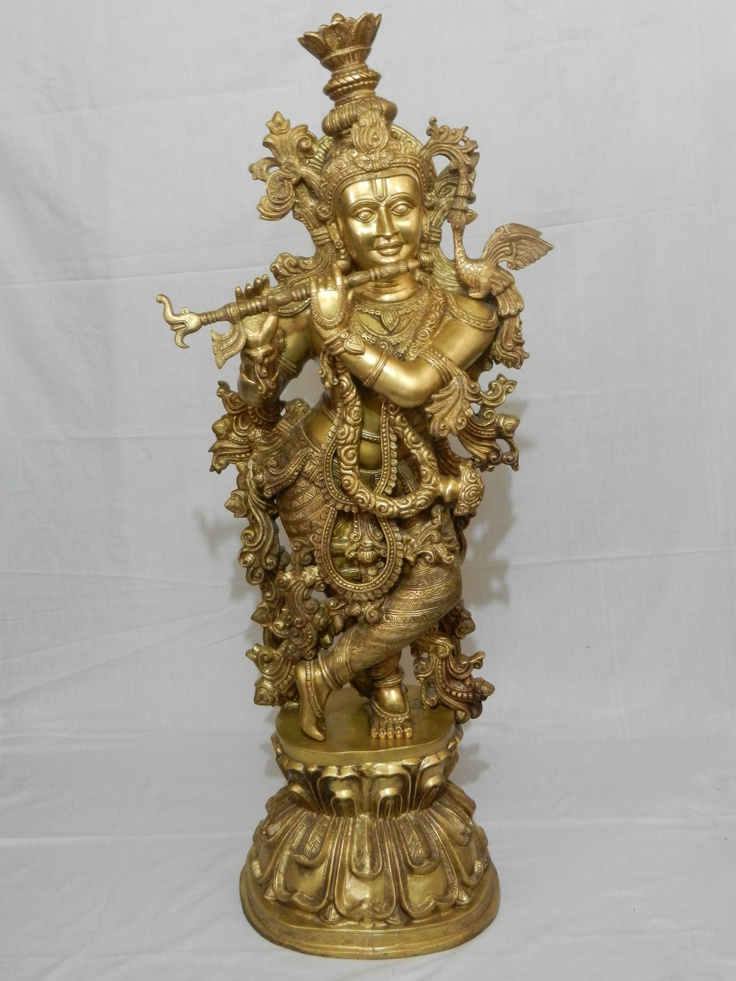 The exclusive range of Brass Krishna Statue exported and supplied by our company is highly valued for its exclusive designs and elegant look. The Brass Krishna Statue represents the Bal Krishna avatar which is very famous in India and across the world. It is difficult to resist the attractive statue of Lord Krishna supplied by our company, and the demand for it is increasing day by day. It is accurately designed and meets the international standard for quality.