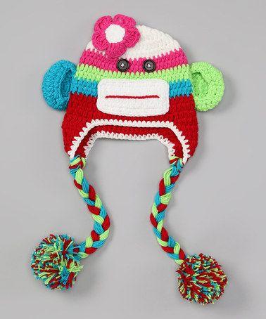 Another great find on #zulily! Rainbow Monkey Earflap Beanie - Kids #zulilyfinds