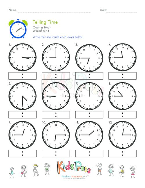 64 besten Telling Time Worksheets Bilder auf Pinterest | Coole ...