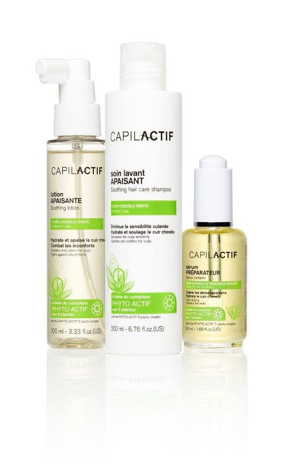 Linea Capilactif calmante: Protocollo per cute sensibile ed irritata .  Siero preparatore Shampoo ad azione calmante Lozione spray ad azione calmante per cute irritata.