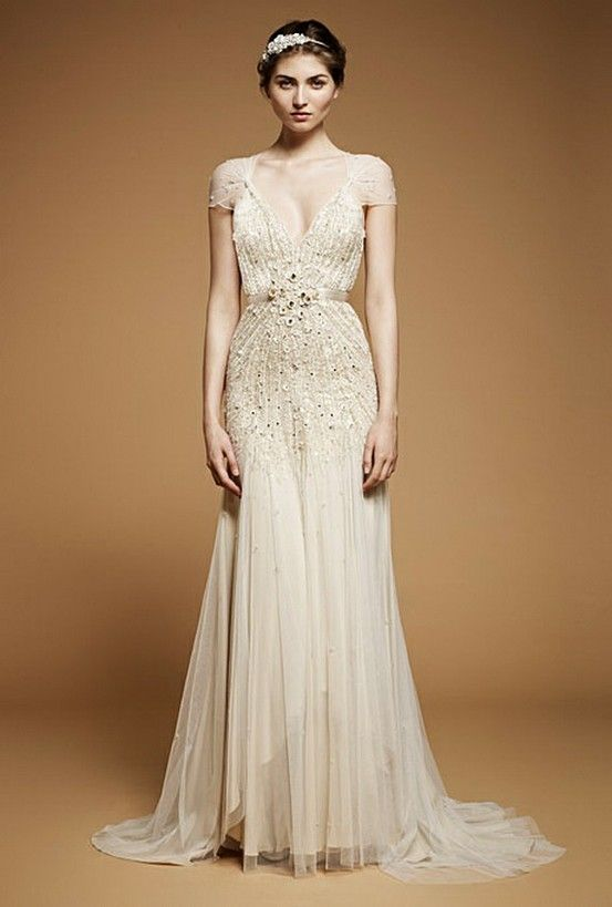 Chic Special Design Wedding Dresses ♥ Vintage Wedding Dresses  Very vintage-y but you'll need long legs to carry this off!
