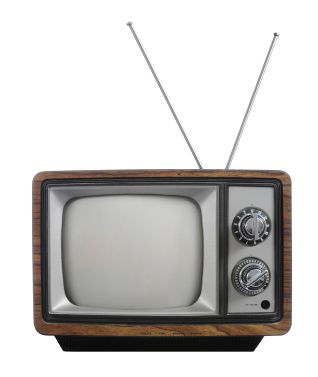 I want to have a television in my set to show trailers from but I want it to be a old television set so it looks vintage rather than having a brand new high tech one.