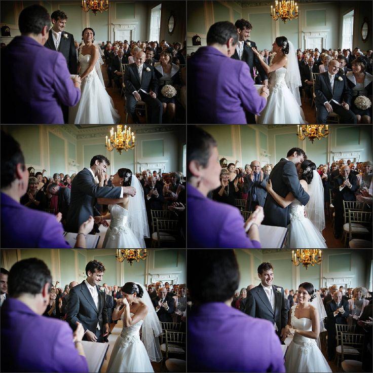 Stunning ceremony room at Surrey wedding venue, Botleys Mansion / nealejames.com
