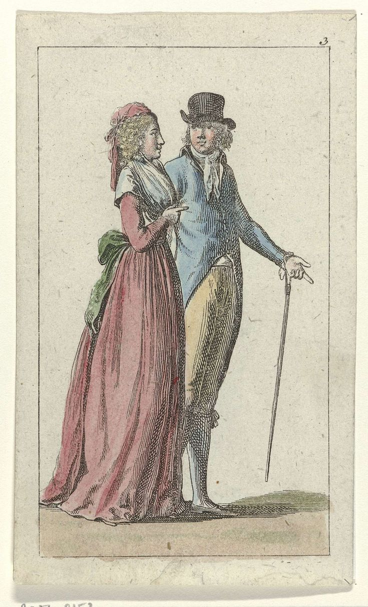 Lady and gentleman, 1796.