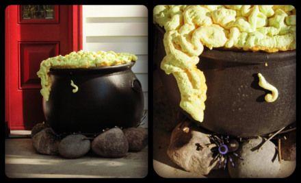 Cheap DIY Halloween Decorations   Halloween porch and DIY outdoor Halloween decorations.   laughing abi