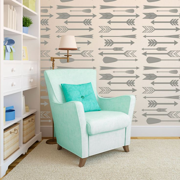 2014 Nursery Trend: Arrows in the nursery - and we adore these wall decals! #nursery #modern: Wall Art, 2014 Trends, Arrows, Wall Decals, Projects Nurseries, Nurseries Ideas, High Schools, Kids Rooms, Accent Wall