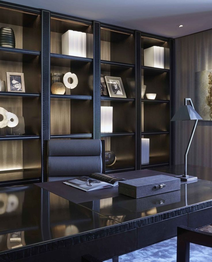 Decor So Modern And Amazing Dark Design On Office Room P