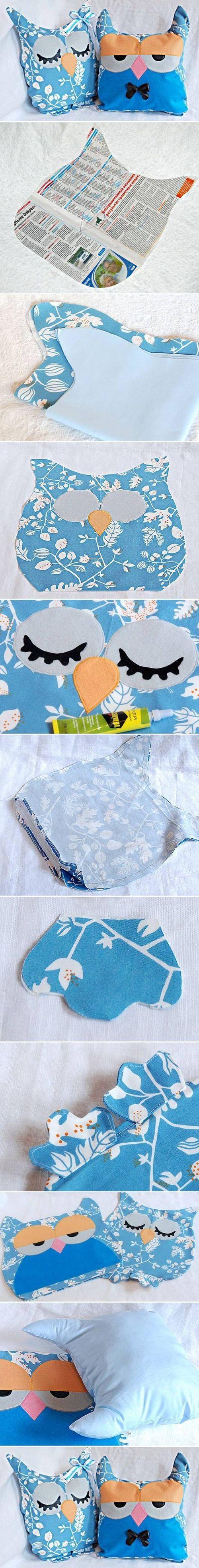 DIY Owl Pillow diy sew crafts craft ideas easy crafts diy ideas diy idea diy home diy pillows easy diy for the home crafty decor home ideas diy decorations diy sewing sewing ideas craft sewing