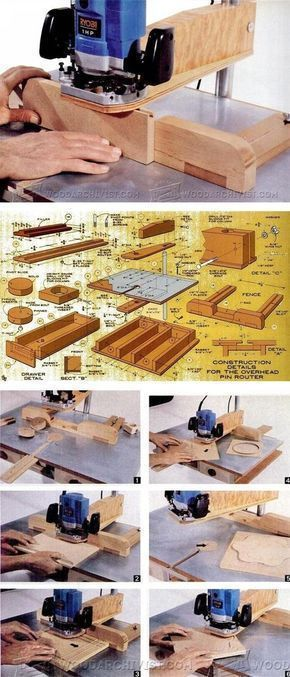 DIY Pin Router - Router Tips, Jigs and Fixtures| WoodArchivist.com
