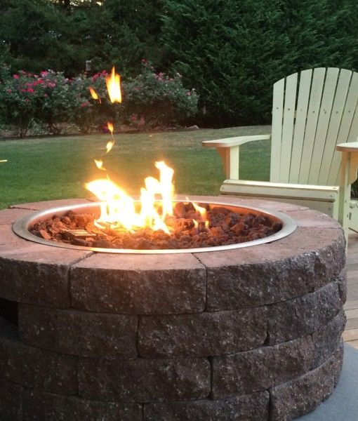 how to build a propane fire pit in your backyard