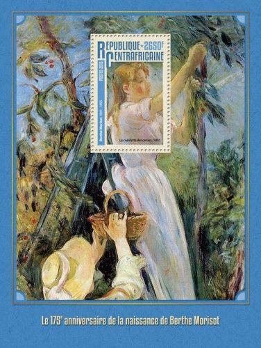 """CA16310b 175th anniversary of the birth of Berthe Morisot (Berthe Morisot (1841-1895) """"Picking Cherries"""", 1891)"""