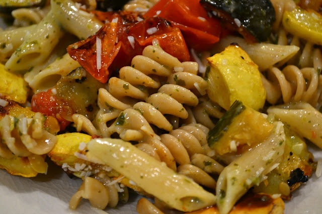 pesto pasta with roasted vegetables | Favorite Recipes | Pinterest ...
