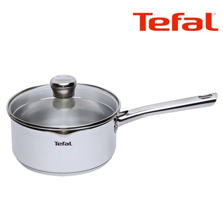 details about tefal duetto premium stainless saucepan pot pan 18cm induction oven cookware. Black Bedroom Furniture Sets. Home Design Ideas