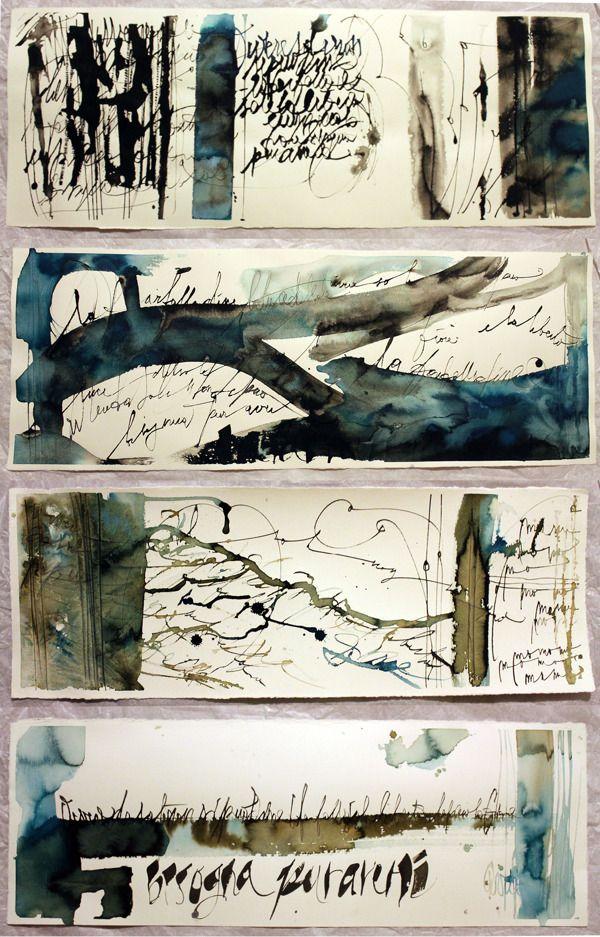 Experimental Calligraphy by Marta Cortese, via Behance