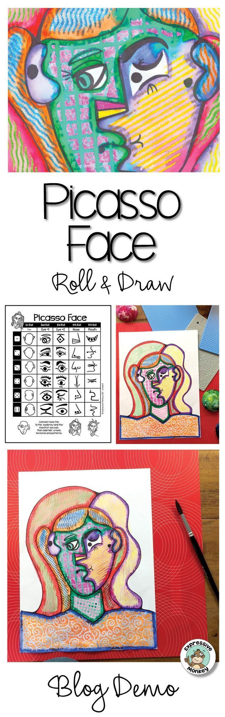 This fun Picasso art project for kids will make it…