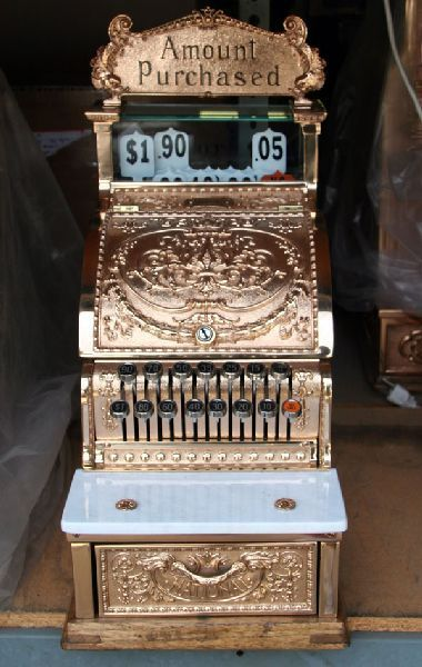 * 1920's CANDY STORE ~ cash register, GOLD!!