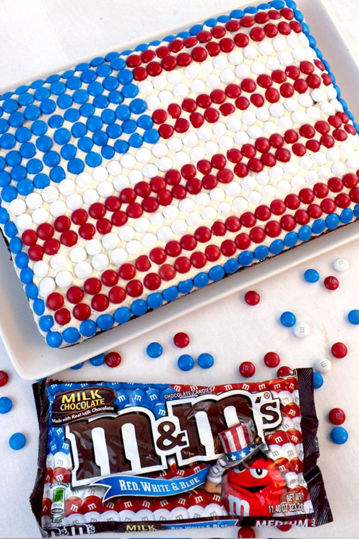 M M Flag Cake Recipe Flag Cake 4th Of July Cake 4th Of July Desserts