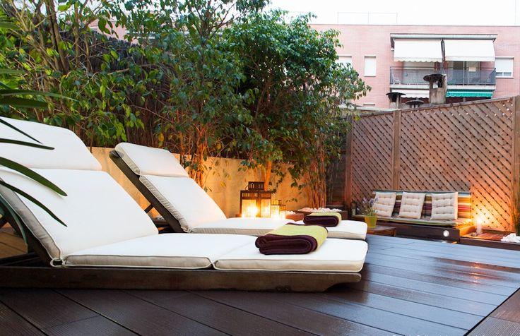 Terrasse à Barcelone dans un appartement privé. Réalisation : Inma Studio