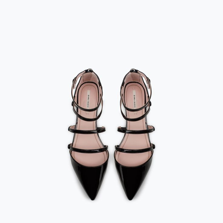 FLAT COURT SHOE WITH ANKLE STRAP-New this week-Woman-COLLECTION AW15 | ZARA United States                                                                                                                                                     Plus