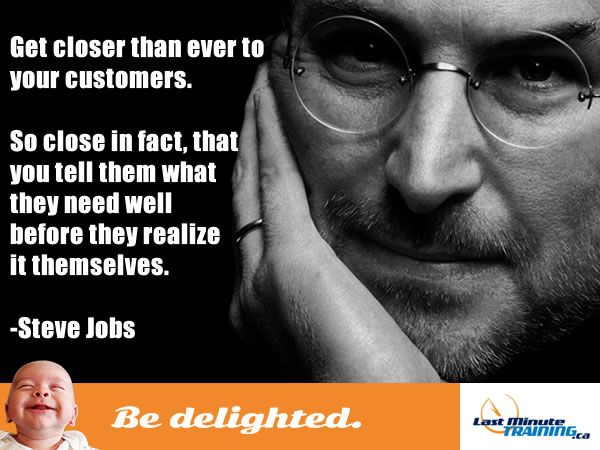 bedelighted, LMT, steve jobs, last minute training, big deal, funny, customer service, office, employees, work, workplace, humour,