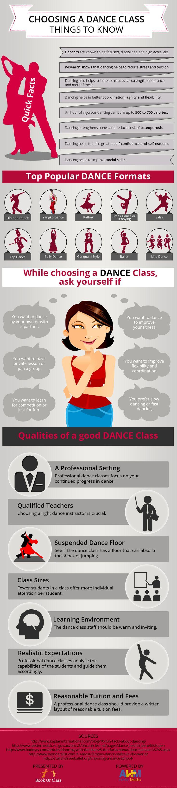 Choosing a dance class
