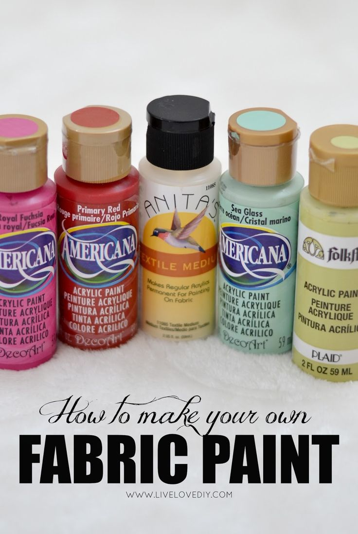 10 Paint Secrets: tips & tricks you never knew about paint (like how to make your own fabric paint)! These are great!