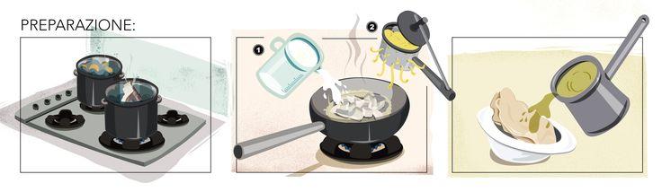 millefoglie di baccalà e pane carasau - preparazione