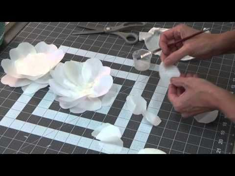 "Kara's Couture Cakes - Wafer ""Bouquet"" Rose Tutorial - YouTube"