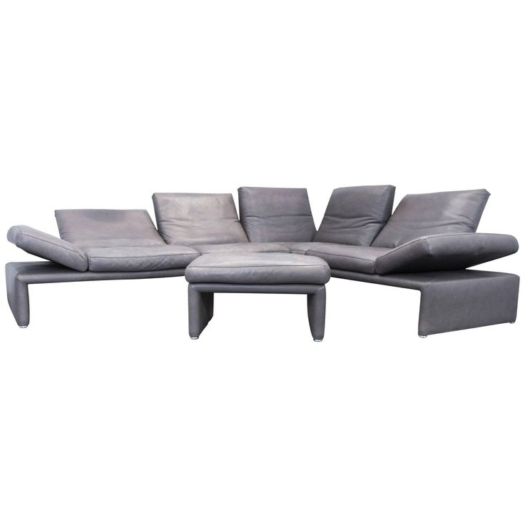 Koinor Raoul Designer Corner Sofa Set Leather Brown Function Couch Modern
