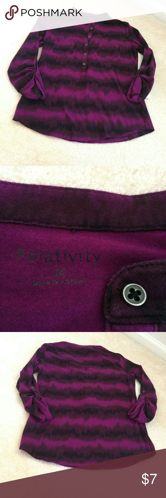 relativity womens medium purple dip dye blouse but this cute top from relativity is in excellent condition! Relativity Tops Button Down Shirts