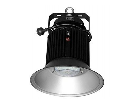 The Screentech 150W LED High Bay is a single integrated unit that replaces a 375W Metal Halide High Bay.