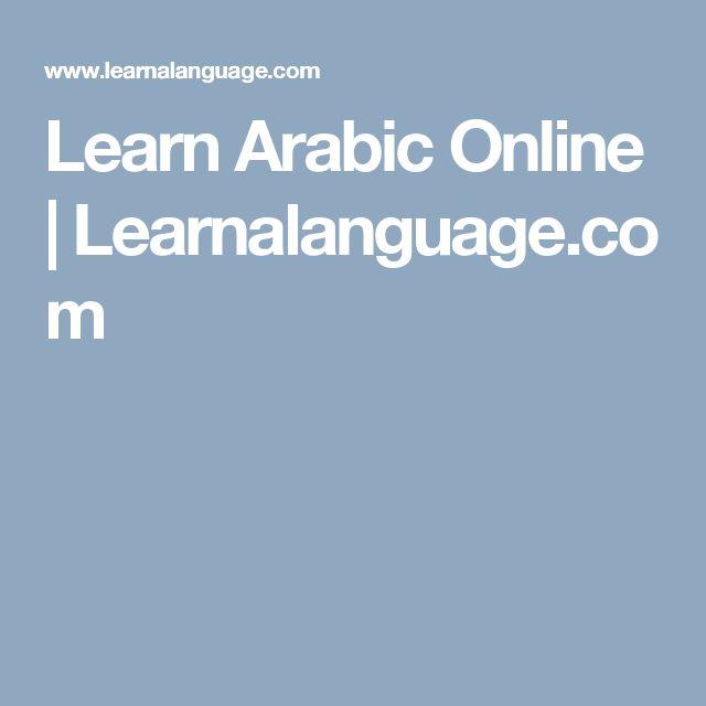 Learn Arabic Online   Learnalanguage.com