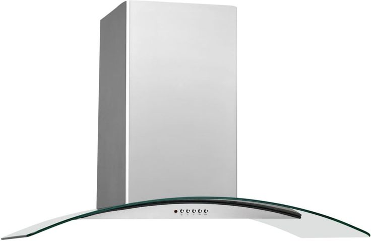 Frigidaire FHPC3660LS 36 Inch Island Mount Chimney Range Hood with 400 CFM Internal Blower, 3-Speed Centrifugal Fan, Halogen Lighting, Glass Canopy and Convertible to Recirculating