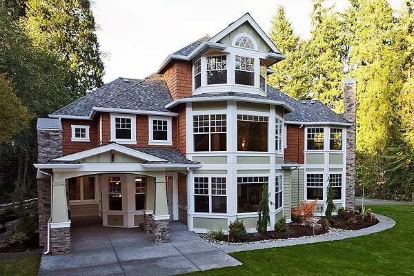 Corner Lot, Craftsman, Shingle Style, Luxury, Photo Gallery, Premium Collection, Northwest House Plans  Home Designs