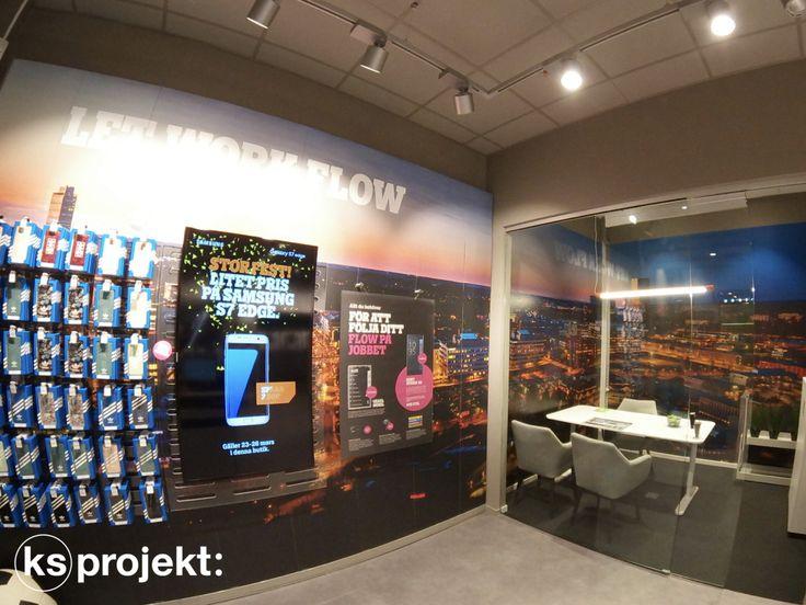 Tele2 Kista Schweden   Innenarchitektin. In der Kista Galleria in Stockholm hat Tele2 ein Flagship-Store in bester Lage eröffnet.