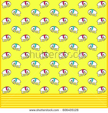 Seamless pattern. Illustration for gift wrapping paper and children's background