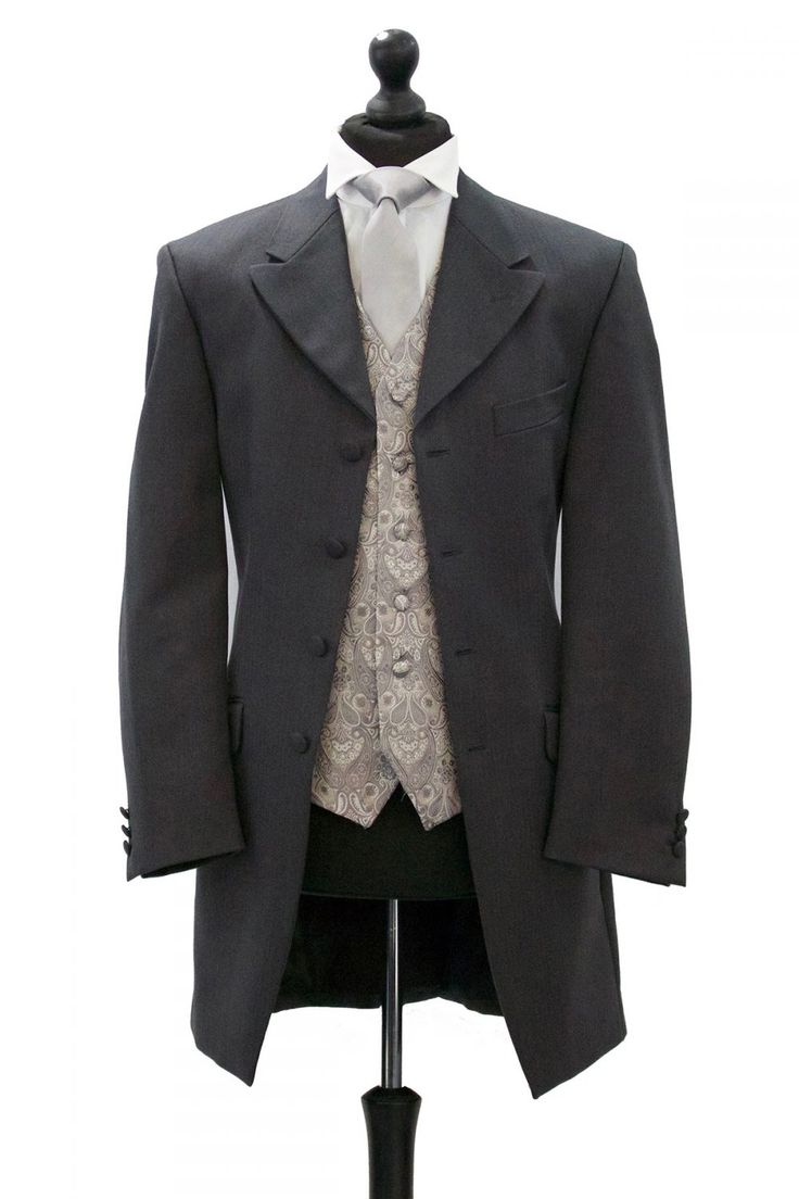 An Albert suit is another traditional wedding suit, the perfect crossover of a lounge and tails suit. We are currently seeing more couples choosing this style for there big day.  This suit is available with matching trousers or the more traditional pinstripe trousers.  Available in sizes Boys 20 chest to 32 chest Mens 34 chest to 54 chest