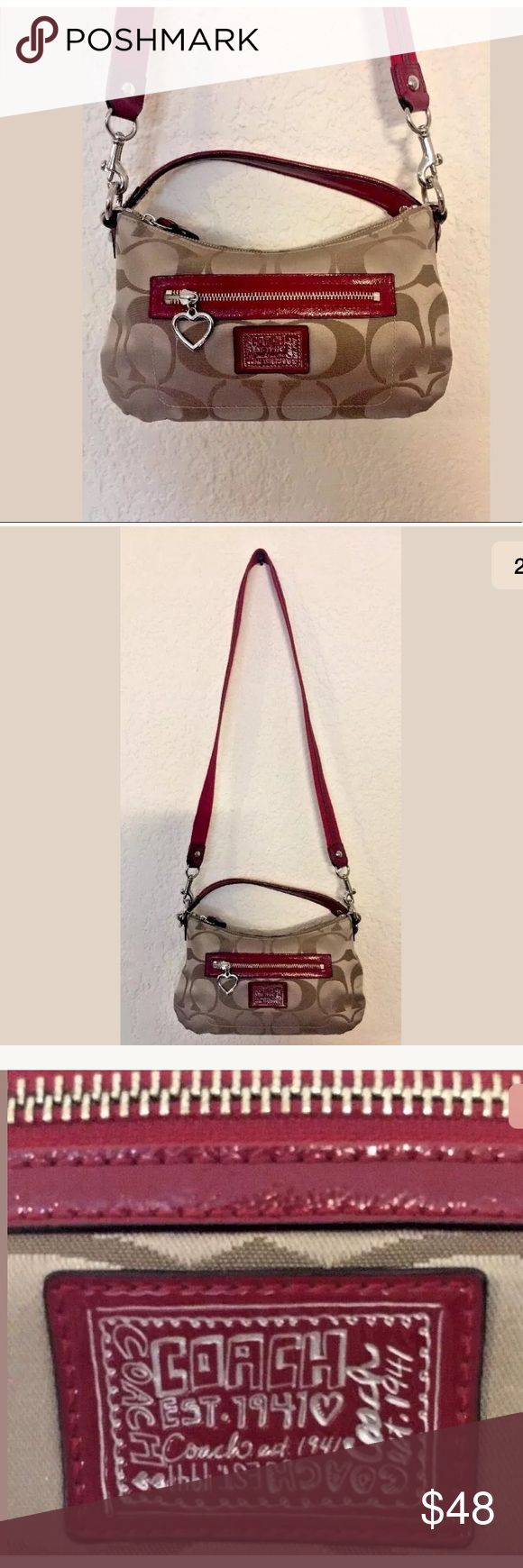 Coach poppy small crossbody with red trim Coach poppy small crossbody with red trim style H1280-F20044 Coach Bags Crossbody Bags