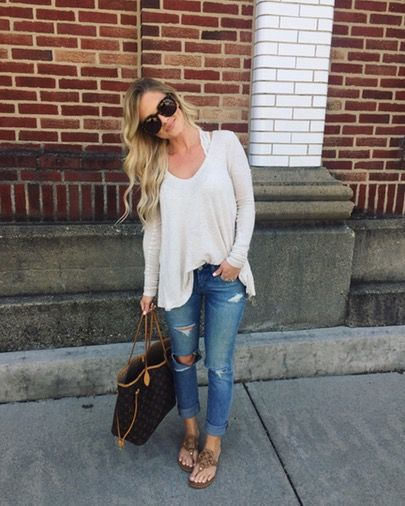 Y'all are getting a double dose of ME today  My casual outfit for dinner and a movie - so sad it's our last night before school starts back tomorrow  My thermal is still available in two colors and 40% off and my denim is fully stocked  Make sure to snag it before they sell out again! Shop it with @liketoknow.it or on the Shop page of the.l blog {link in bio}  http://liketk.it/2qU4j #LTKUnder50 #liketkit #LTKSaleAlert