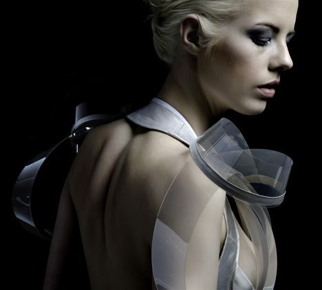Hi-tech fashion, a dress that becomes transparent as your heart rate increases