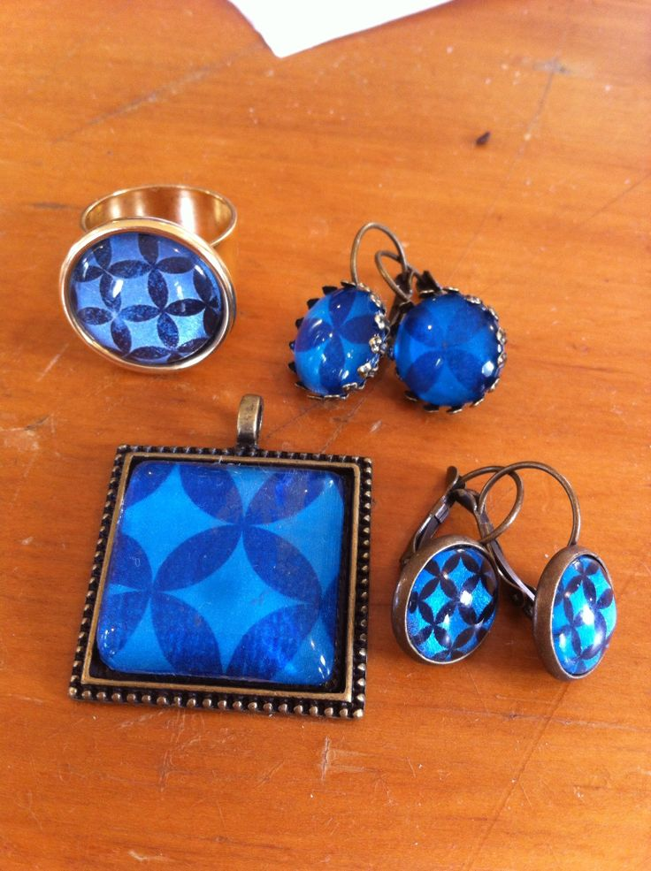 Selection of Bellbirds blue Pacifica design jewellery Www.bellbirddesigns.com