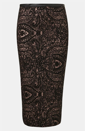 Topshop Paisley Tube Skirt available at #Nordstrom