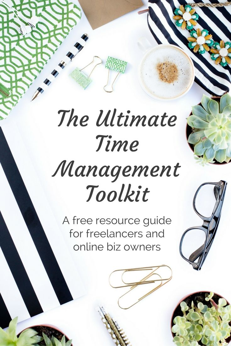 Feeling overwhelmed? Overworked? Like you're falling behind? Grab my free time management toolkit and take back control.