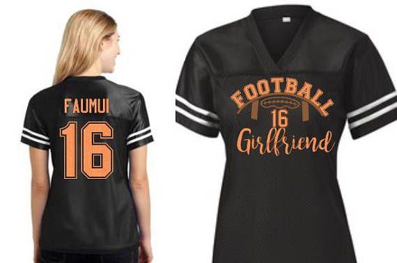 Custom Football Player Girlfriend Jersey School spirit in