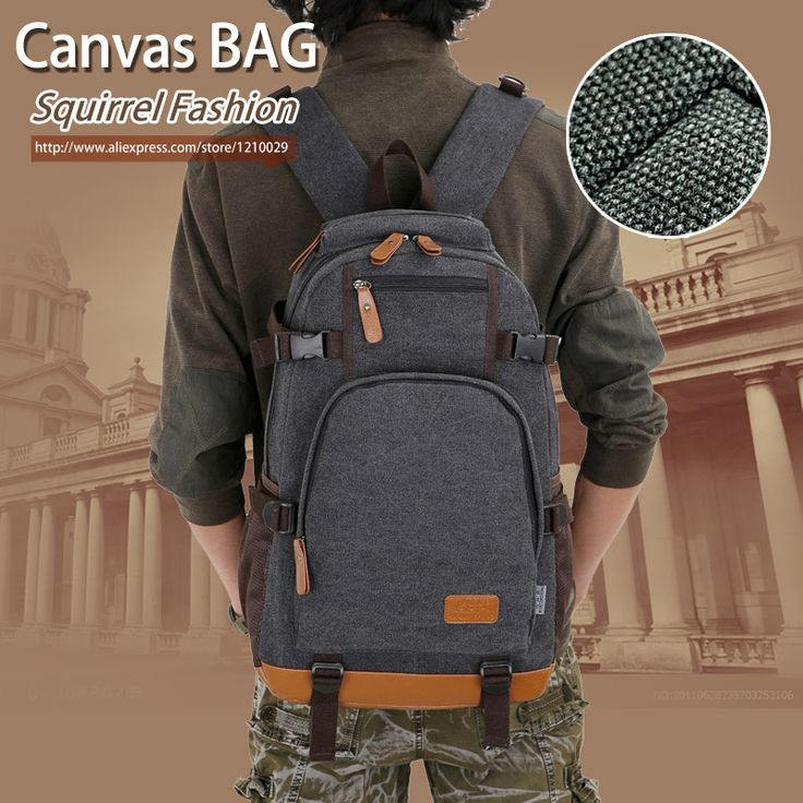 Squirrel fashion canvas men's daily travel duffle backpacks for laptop Korean style vogue hipster versatile youth school bag | Price: US $26.40 | http://www.bestali.com/goto/32323347338/10