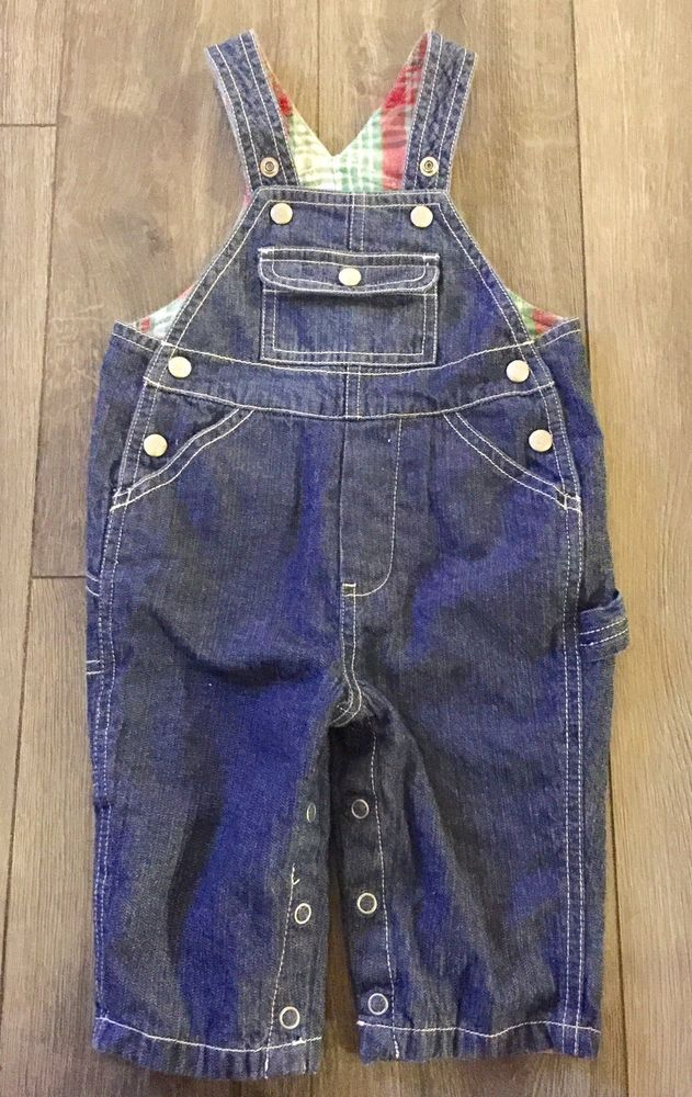 040de96d4a4e INFANT BOYS BABY GAP BLUE DENIM OVERALLS SIZE 3-6 MONTH PLAID LINED  CARPENTER  fashion  clothing  shoes  accessories  babytoddlerclothing ...
