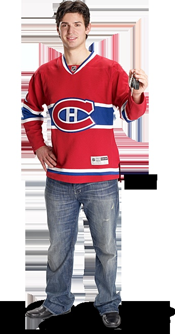 Carey Price posing for http://olivierford.com/ Playing for Canadiens de Montréal - the Habs otherwise. Carey Price has been endorsing Olivier Ford for a few years now.