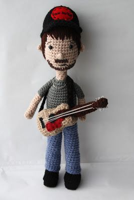 Crochet man playing guitar hmmm...:
