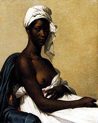 Retrato de una negra es un cuadro de la pintora Marie-Guillemine Benoist, realizado en 1800, que se encuentra en el Museo del Louvre, París.  La obra, realizada solo seis años después de la abolición de la esclavitud en las colonias francesas, simboliza la emancipación de los hombres y mujeres negros. Con esta obra, la autora rompe la costumbre de los pintores occidentales de representar a los habitantes de países no europeos con vestimentas exóticas.1  Benoist presentó esta obra en el Salón…